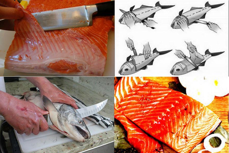 Этапы разделки рыбы