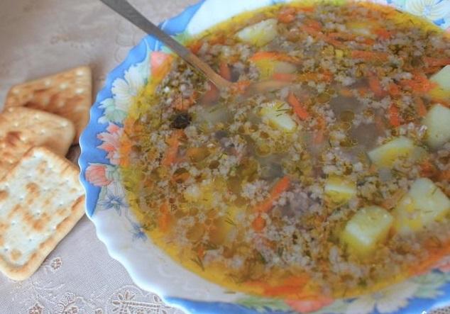 Суп из ячки