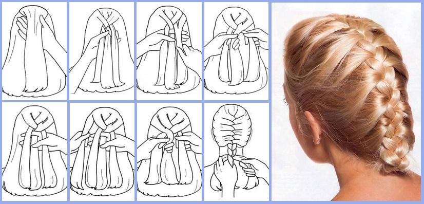 Француский метод собирания волос