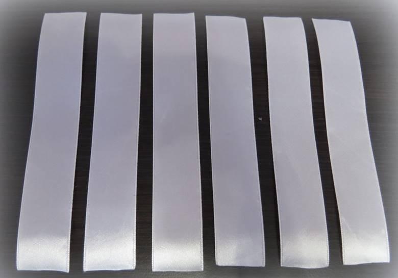 Сделать 16 отрезков длиной 16 см из полоски меньшей ширины