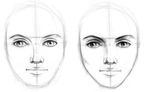 Рисование лица карандашом