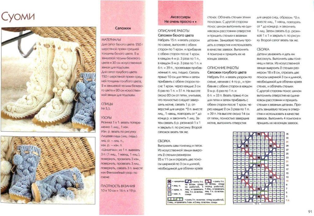 Вязание сапожков