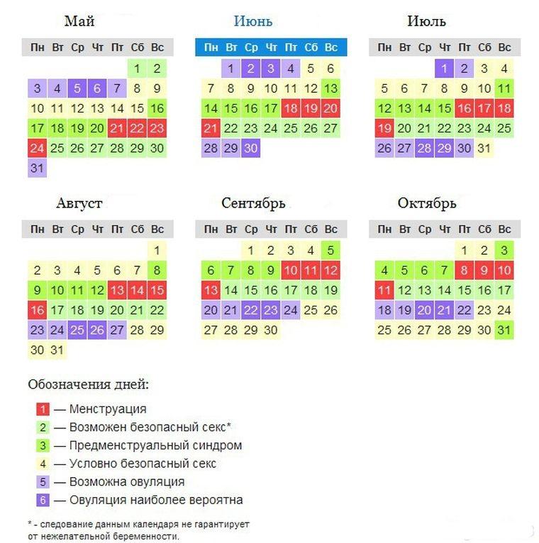 пример календарного расчета