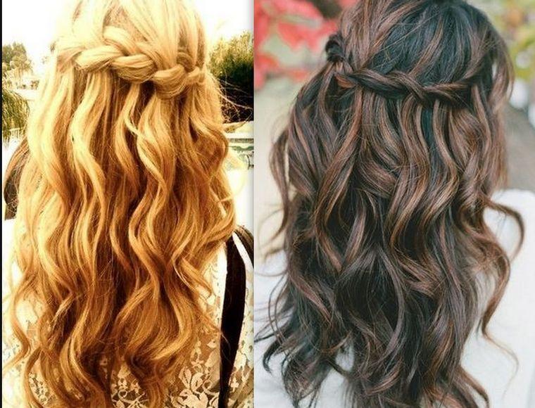 классика на длинные волосы