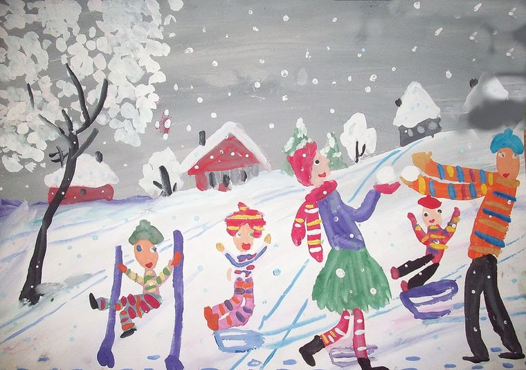забавы зимой