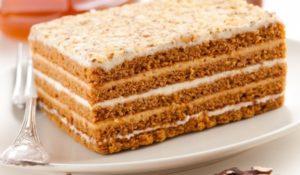 торт со сгущенным кремом
