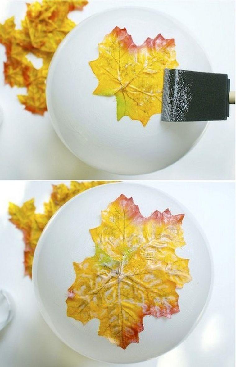 листья - ваза
