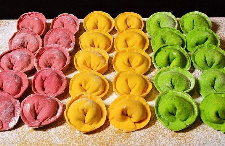 цветные пельмешки