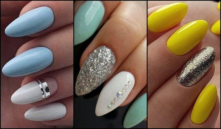 дизайн миндалевидных ногтей