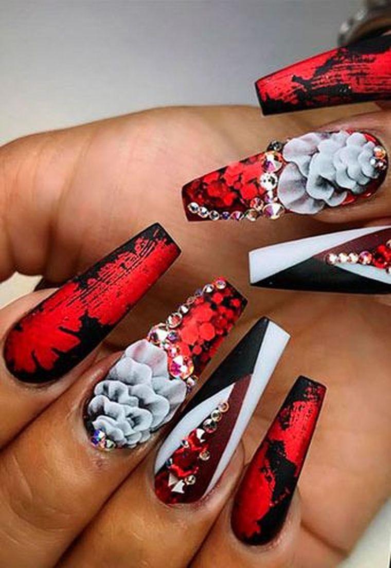 модный маникюр на длинные ногти