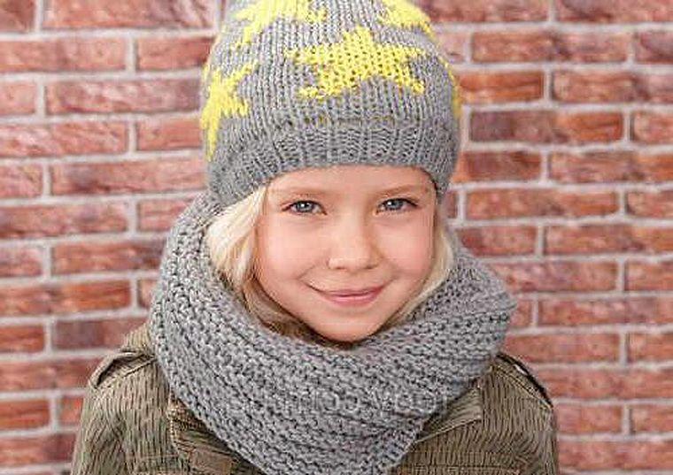 шарф-труба для девочки