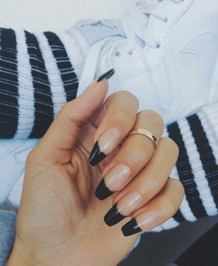 френч на длинные ногти 2019