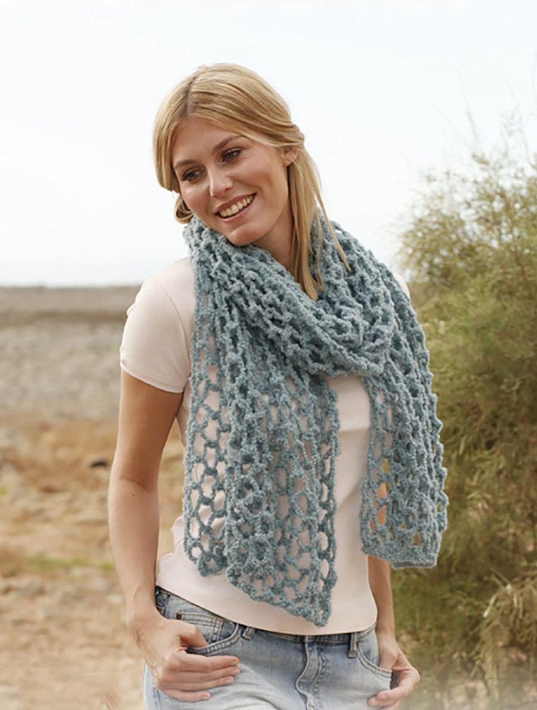 летний шарф крючком
