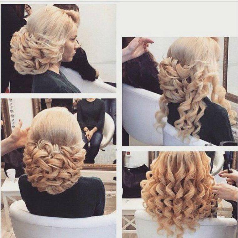 прическа с собранными волосами